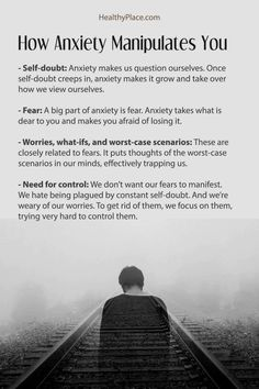 There are common ways that anxiety manipulates you and causes symptoms. Anxiety tries to control your life by manipulating you with these four tactics. Anxiety Facts, Anxiety Tips, Anxiety Help, Stress And Anxiety, Quotes About Anxiety, Depression And Anxiety Quotes, Anxiety Thoughts, Writing Tips, Mental Health