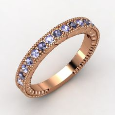 love the tanzanite with rose gold!