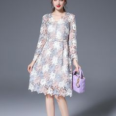 NEW FASHION KOREAN LACE DRESS  Old: $117.43 Now: $70.46