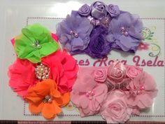 Tiara de flores rosa y beich VIDEO No. 285 - YouTube