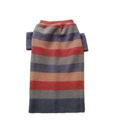 Large Stripped Wool Dog Sweater Handmade