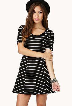 Darling Striped Skater Dress | FOREVER21 - 2040495612 #foreverholiday