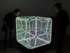 A cube that appears to contain an infinite universe by Sven Jonke, Christoph Katzler and Nikola Radeljković