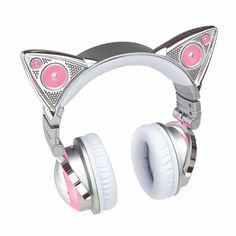 Ariana Grande cat ear headphones, aka What I want for Christmas. with lights, microphone, cat ear speakers. oh and Bluetooth (wireless) available for preorder on brookstone. Will ship out in November! Ariana Grande Headphones, Wireless Cat Ear Headphones, Ariana Grande Cat, Mode Kawaii, Catty Noir, Tech Accessories, Stuff To Buy, Cat Ears, Guy Models