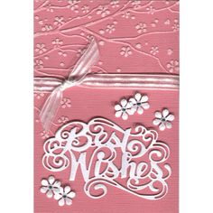 Sue Wilson - The Expressions Collection - Best Wishes, Crafts-Too Embossing Folder - Cherry Blossom & Nellie Snellen - Small Punch & Emboss - Flower 1