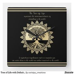 Tree of Life with Definition Square Wall Clock Tan Towels, Guest Towels, Granny Flat, Paper Products, Kitchen Dishes, Traditional Decor, Love Messages, Bath Accessories, Towel Set