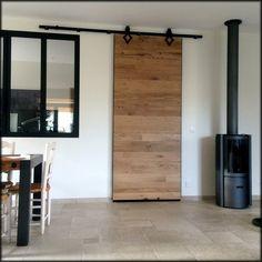 sliding door in old oak - corridor 2019 Küchen Design, House Design, Oak Doors, Closet Bedroom, Sliding Doors, Tall Cabinet Storage, Interior Decorating, Sweet Home, New Homes
