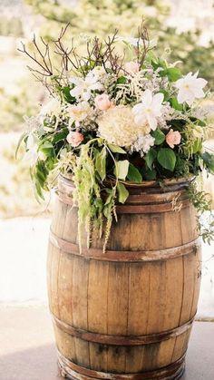 Rustic wedding ceremony idea; photo: Lisa O'Dwyer