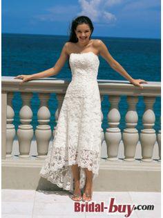 2013 Elegant Inexpensive High-low Sweetheart Short Beach Wedding Dress Under 200 WLD-7877