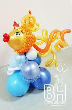 es un trabajo maravilloso. Balloon Lanterns, Balloon Centerpieces, Balloon Columns, Balloon Decorations, Balloon Fish, Balloon Words, Water Balloons, Baloon Art, Ballon Animals