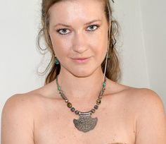 Lakshmi  vintage 80s tribal necklace Indian by PachamamaLove, $75.00