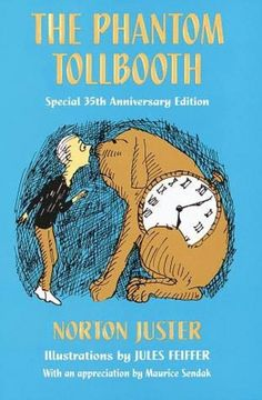 """Milo, a bored ten-year-old, comes home to find a large toy tollbooth sitting in his room. Milo drives through the toll booth's gates and begins a memorable journey. Joining forces with the watchdog Tock, he meets the Mathemagician, the not-so-wicked """"which"""", and Faintly Macabre, who tells Milo of his """"impossible"""" mission to return two princesses to the Kingdom of Wisdom."""