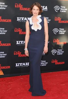 Ruth Wilson in Alexander McQueen PF13 at The Lone Ranger L.A. premiere
