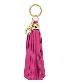 Love this Pink Leather Tassel Key Chain by Russell + Hazel on #zulily! #zulilyfinds