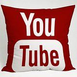 Youtube Icon Social Media Pillow Case (20x20 one side)