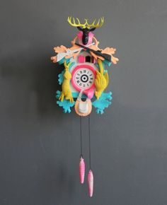 Cuckoo clock + paint.