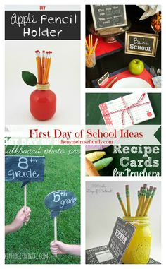 First Day of School Ideas