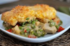 Confetti Chicken Bake...I DIDN'T USE GREEN PEAS. I used stew veggies (potatoes, onions, and carrots)