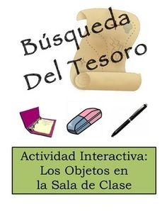 Spanish Classroom Scavenger Hunt Activity: Class Object Vocabulary