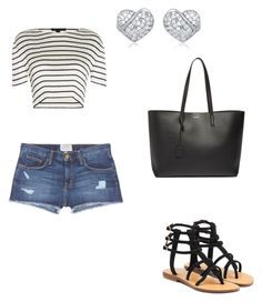 Summer 2016 by starrjames on Polyvore featuring Alexander Wang, Current/Elliott, Mystique and Yves Saint Laurent
