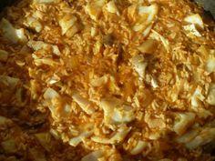 Plat final, arròs de bacallà amb ceps