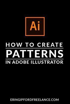 In this Adobe Illustrator Tutorial I will show you how to create a custom pattern swatch! It's super easy! Web Design, Flat Design, Graphic Design Tutorials, Tool Design, Design Files, Layout Design, Learn Illustrator, Adobe Illustrator Tutorials, Photoshop Illustrator