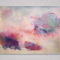 "Toward a lightness of being. 48x60"" large scale original abstract oil painting by Sharon Kingston."