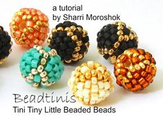 *P Beaded Beads Tutorial  Beadtinis  instant by TheBeadedBead on Etsy, $9.00