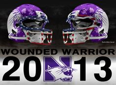 Wounded Warrior http://www.charlessollarsconcepts.com/northwestern-wildcats-wounded-warrior-concepts/ #northwestern #wildcats #UA #underarmour