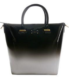 Paul's Boutique Natasha Tote bag in Ombre Black/White. Online now || paulsboutique.com x