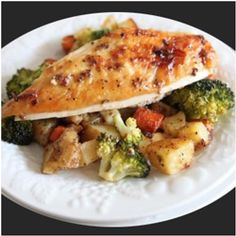 Ideal Protein: Roasted Chicken and Vegetables  (broccoli, eggplant, zucchini) Recipe