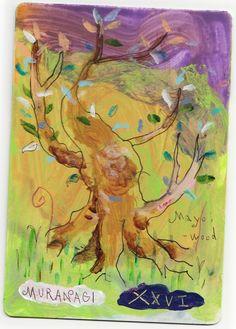 マヨイの森(Mayoi-woods)…遠い昔、森を訪れた時間の鳥に、その実を託し、透明に光る永遠を、旅し続ける木です。美しい森の…誰も知らない深奥…マヨイの森は…永遠を生きます…この森に…無数に点在する…今この瞬間…過去…未来…時の概念を超え…色とりどりの景色を見せます…全てが共に在り…選び変えられる場所…ある木は…悲しみや痛みを…またある木は…勇気と決断を…喜びを…怒りを…赦しを…そして…愛を…語ります…この地に佇めば…響き合う木の元で…そっと瞳を閉じ…その心に映す景色に…寄り添うだけです…そう…選択は…いつだって…無限に…自由なのだから…
