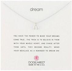 Dogeared Dream Teeny Wishbone Necklace in Silver