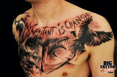 tattoos chest pictures -