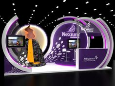 Nexium booth on Behance