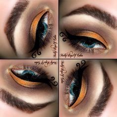 Gold And Yellow makeup!! Perfect for Summer!!