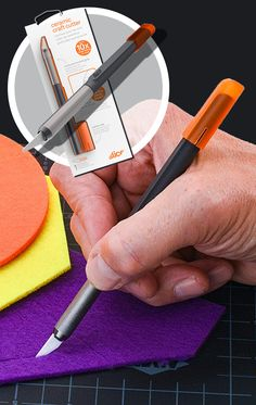 Learn why Fortune 1000 companies, as well as crafters and artists love the Slice ceramic safety Craft Knife, with its effective finger-friendly blade. Sewing Hacks, Sewing Crafts, Diy Crafts, Arts And Crafts Supplies, Art Supplies, Safety Crafts, Paper Art, Paper Crafts, Clay Projects