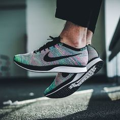 chaussure nike flyknit racer arcobaleno multicolore 2017 (2), il