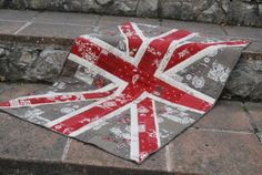 Shabby Chic Union Jack Wall Hanging