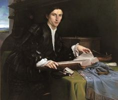 Lorenzo Lotto - Portrait of a Gentleman in his Study ca 1527