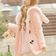 fa743af00b9 Abrigo conejo   bunny rabbit coat wh110 Kawaii Fashion