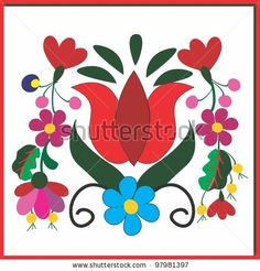 stock vector : embroidery hungarian pattern