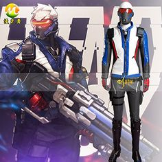 OW Soldier:76 a set of costume Cosplay Prop. Producing time:7-10days, shipment time: EMS express shipment 7-10 days worldwide. We are make to order, so please make sure what you get before you buy it. You will get what you see from the photos in our shop. The picture was taken with flash so that the color of item is brighter, which might be little different when you receive it. We also provide the service to make the new props from pictures/design diagram that you provide, please contact…