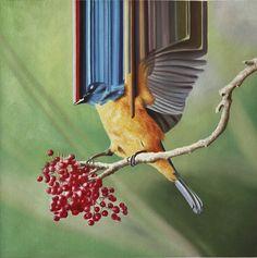 Unique bird-art by Maurizio Bongiovanni.