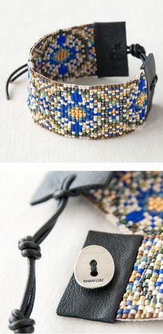 CHAN LUU cuff beads  bracelet http://item.rakuten.co.jp/lilietnene/cl3a-bs3534-bl/
