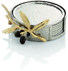 Michael Aram Golden Olive Branch Coaster Set - $99.00