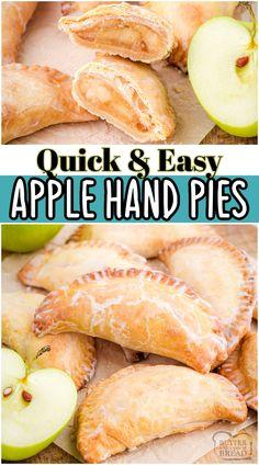 Easy Cookie Recipes, Tart Recipes, Best Dessert Recipes, Fruit Recipes, Fun Desserts, Delicious Desserts, Cooking Recipes, Apple Desserts, Individual Apple Pies