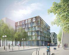 "atelier kempe thill: rue binet 66 housing ""wohnbau"""
