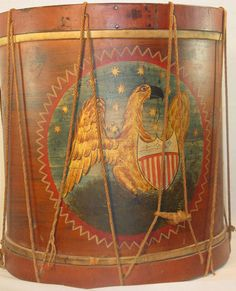 Early Federal or Revolutionary War drum