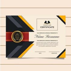 Modern Premium Company Certificate Of Achievement And Appreciation Template With Certificate Of Appreciation, Certificate Of Achievement, Award Certificates, Certificate Border, Certificate Design, Certificate Templates, Award Names, Award Template, Text Effects